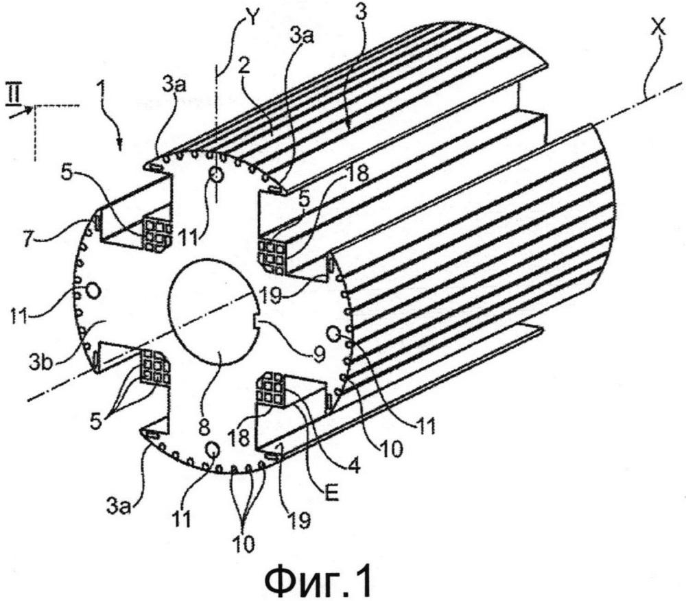 Ротор, содержащий межполюсные зоны с охлаждающими каналами