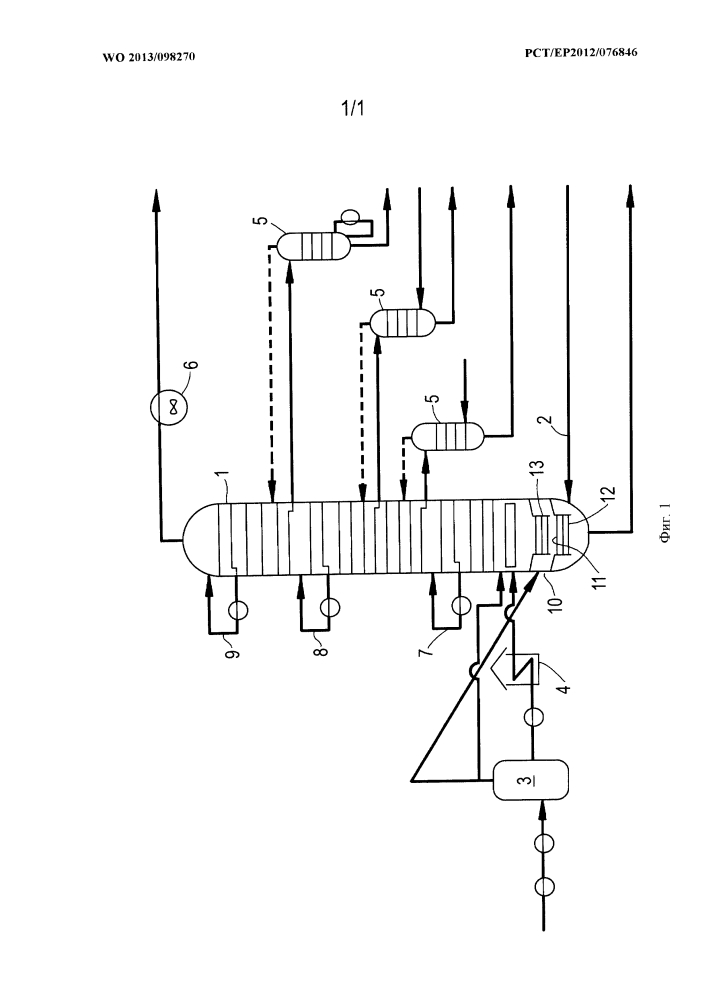 Конфигурация системы предварительного мгновенного испарения и множественный впрыск сырья в способе дистилляции сырой нефти