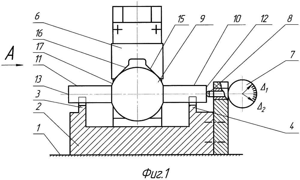 Способ измерения отклонений расположения плоскостей относительно центра наружной сферической поверхности