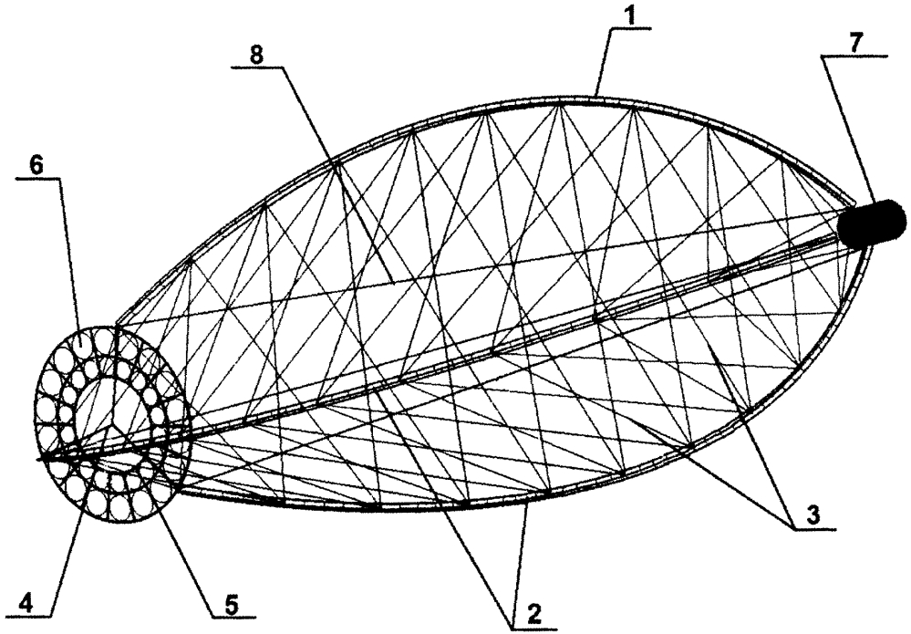 Развёртываемая конструкция дифракционной оптической системы с большой апертурой
