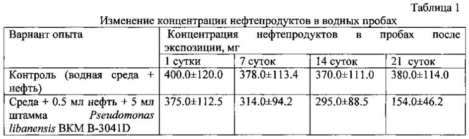 Штамм pseudomonas libanensis b-3041d для очистки почвенных и водных сред от нефтяных углеводородов
