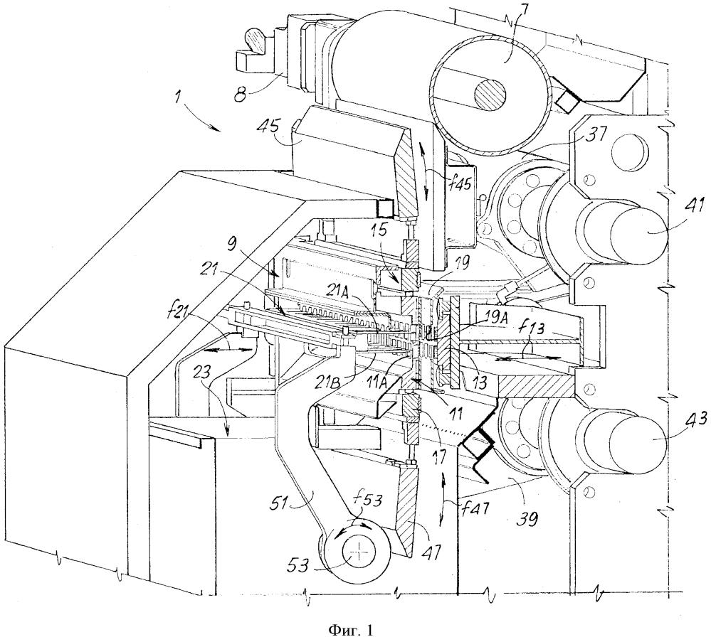 Машина для резки макаронных изделий и образования в них складок