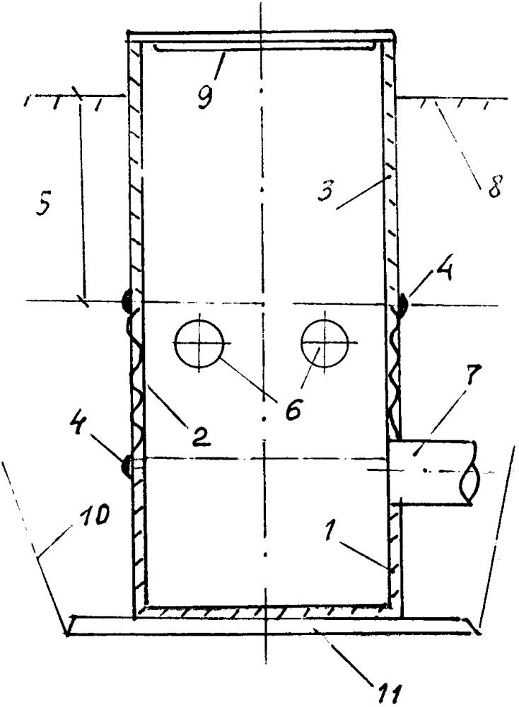 Смотровой дренажный пластиковый колодец для пучинистых почвогрунтов