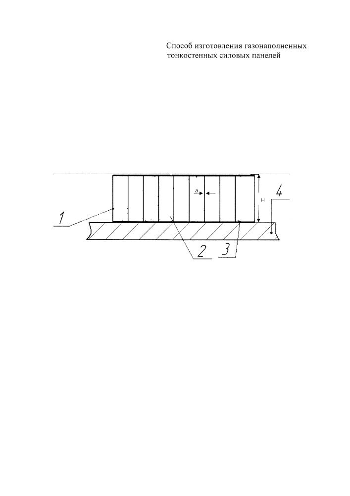 Способ изготовления газонаполненных тонкостенных силовых панелей