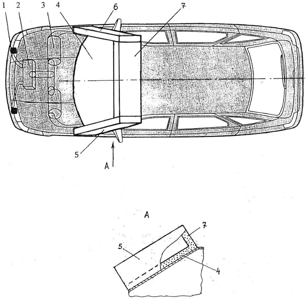 Устройство к автотранспортному средству для защиты водителей велосипедов
