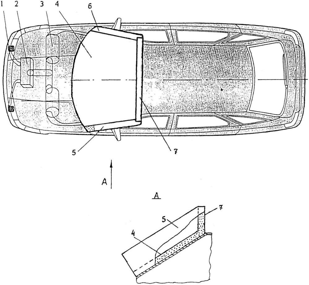 Устройство к автомобилю для защиты пешеходов