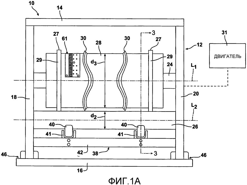 Натяжное устройство для вращающегося режущего механизма