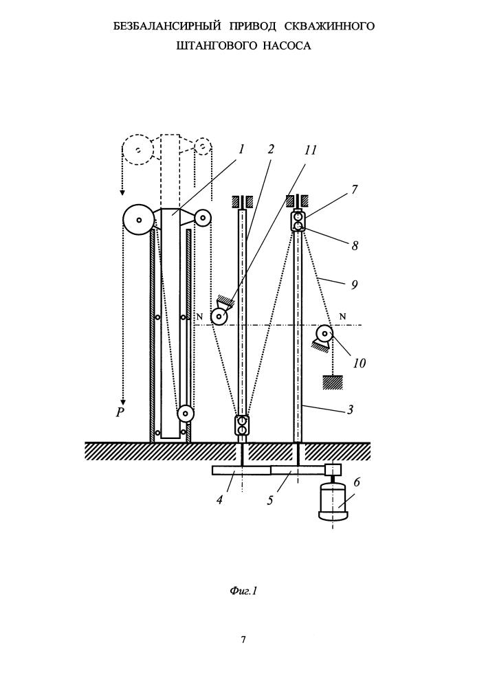 Безбалансирный привод скважинного штангового насоса