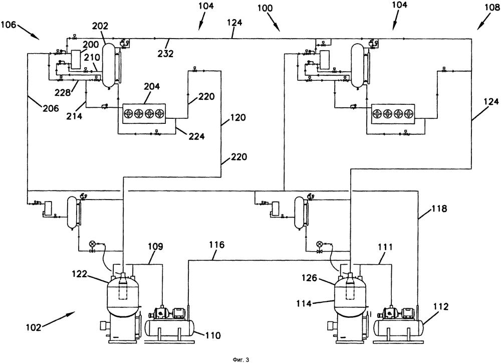 Система охлаждения и способ питания множества конденсаторных испарительных систем