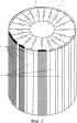 Способ формирования круговой зоны электронного сканирования цилиндрической фазированной антенной решетки