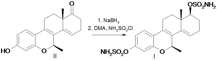 7β-метил-3,17αβ-дисульфамоилокси-d-гомо-6-окса-эстра-1,3,5(10),8,14-пентаен в качестве ингибитора роста клеток рака молочной железы mcf-7