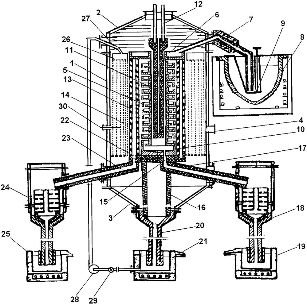 Вакуумный аппарат для разделения оловянных сплавов