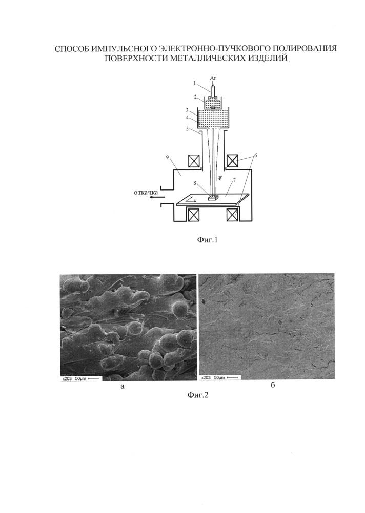 Способ импульсного электронно-пучкового полирования поверхности металлических изделий