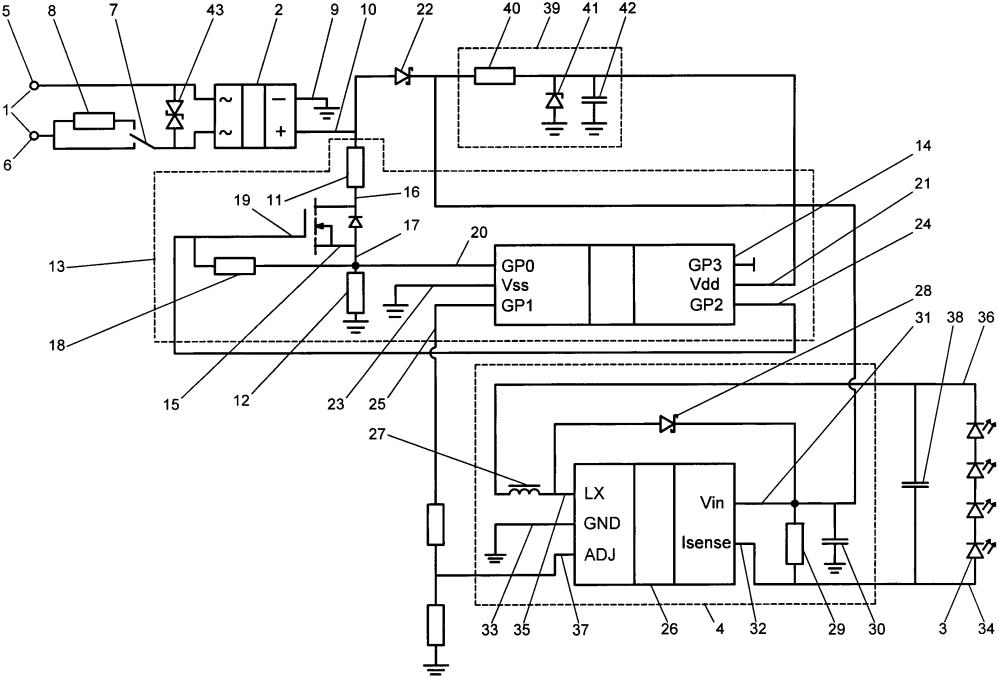 Способ управления уровнем светоотдачи светодиодов и устройство для его осуществления