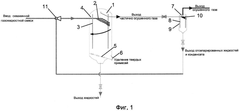 Способ и газожидкостная система для ступенчатого извлечения газа из скважинной газожидкостной смеси