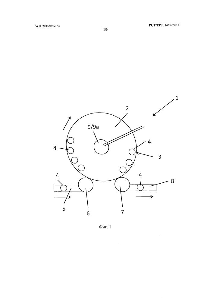 Вращающийся ввод и устройство для обработки и/или транспортировки емкостей с таким вращающимся вводом