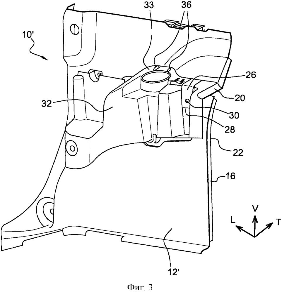 Конструкция боковой обшивки багажника