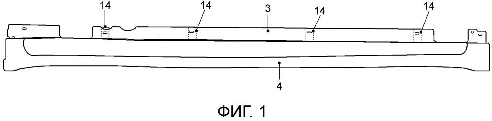 Боковой порог автомобиля с пороговой облицовкой