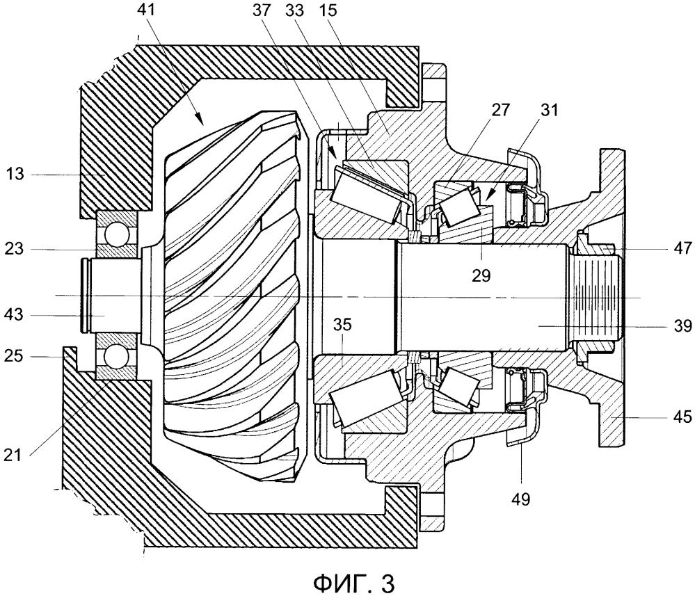 Корпус трансмиссии и узел ведущей оси, содержащий указанный корпус