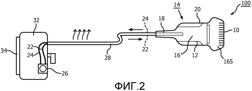 Ультразвуковой матричный зонд с рассеивающим тепло кабелем и теплообменом через опорный блок