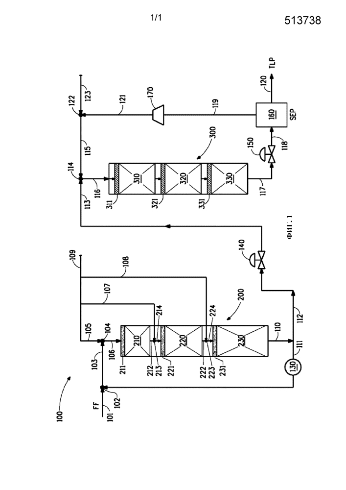 Способ двухфазной гидрообработки как предварительная обработка для способа трехфазной гидрообработки