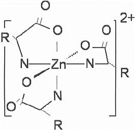 Цинк аминокислота/триметилглицин галогенид