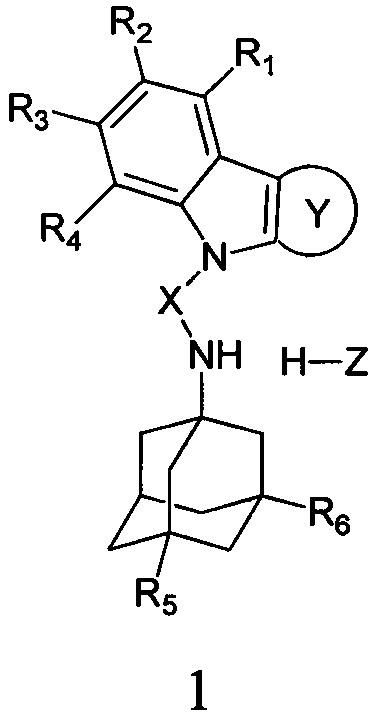 Применение адамантансодержащих индолов и их гидрохлоридов в качестве ингибиторов холинэстераз и блокаторов nmda-рецепторов