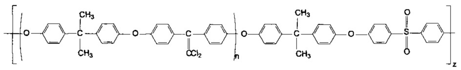Блок-сополиэфирсульфоны с дихлорэтиленовыми группами