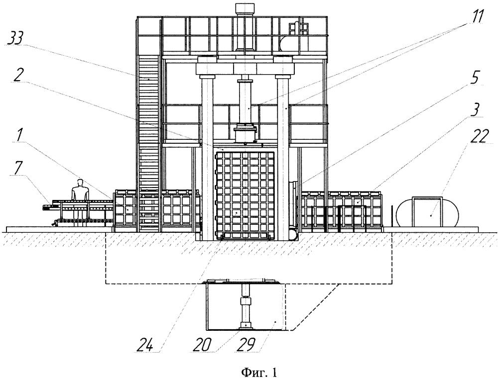 Установка для газовой изотермической формовки деталей из листовых заготовок