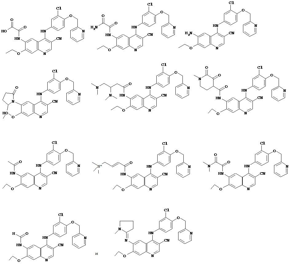 Малеатные соли (е)-n-{ 4-[3-хлор-4-(2-пиридинилметокси)анилино]-3-циано-7-этокси-6-хинолинил} -4-(диметиламино)-2-бутенамида и их кристаллические формы