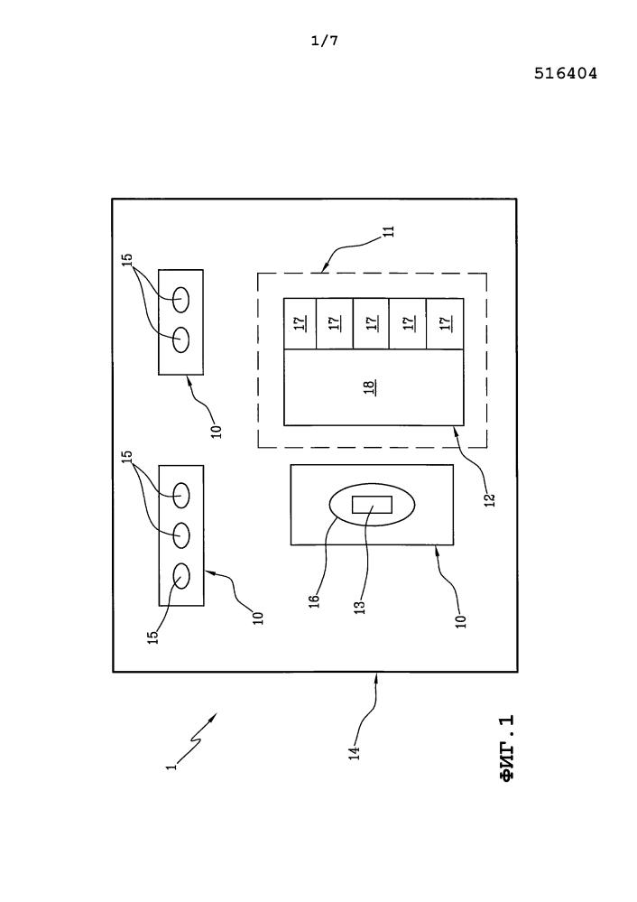 Установка и способ для управления производственным циклом установки в процессе сборки шин для колес транспортных средств