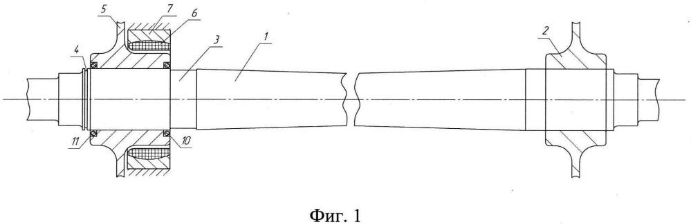 Железнодорожная колесная пара с управляемым дифференциалом