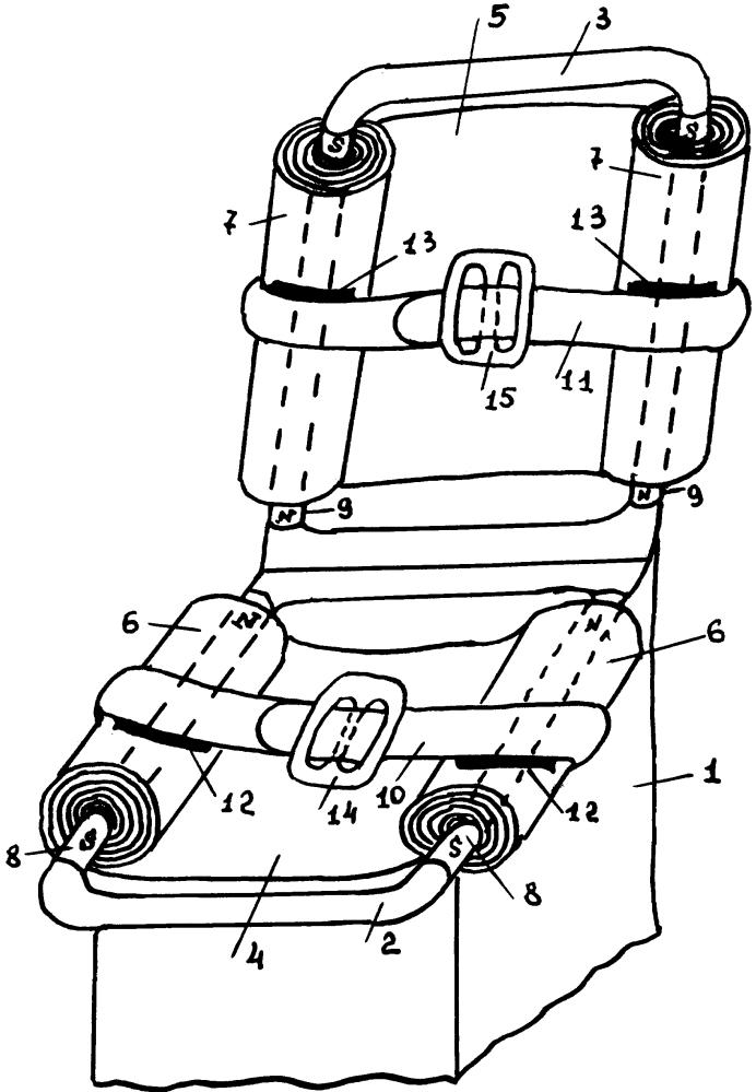 Энергопоглощающее кресло транспортного средства