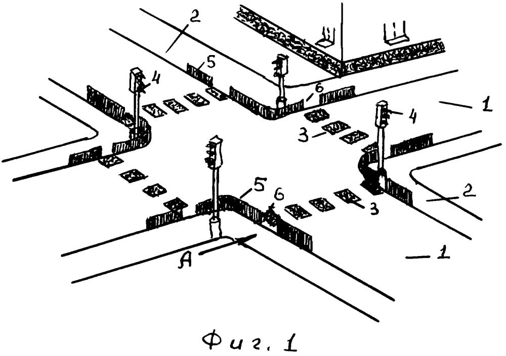 Регулируемое ограждение на пешеходном переходе