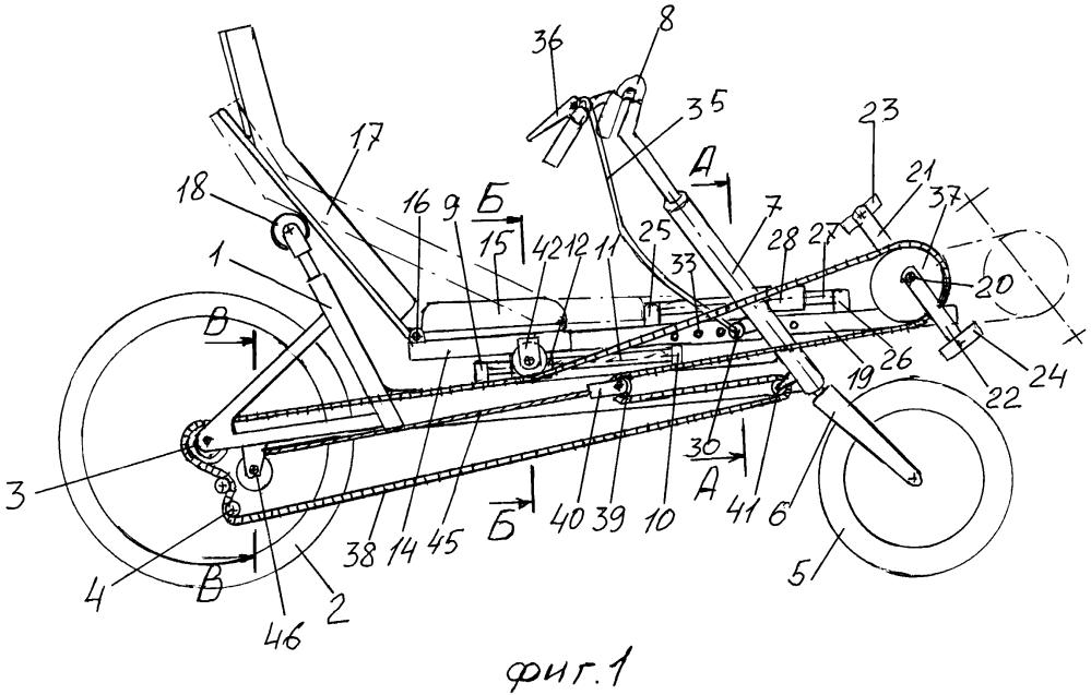 Велосипед рикамбент с изменяемой посадкой