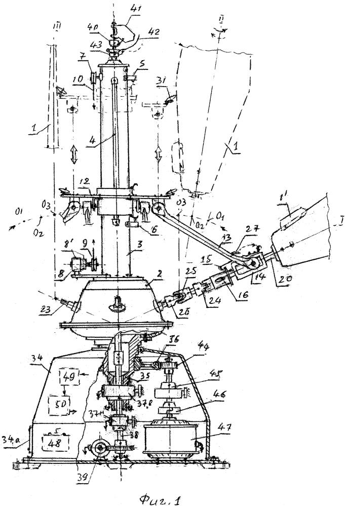Ортогональный ветродвигатель с наклонными складными лопастями