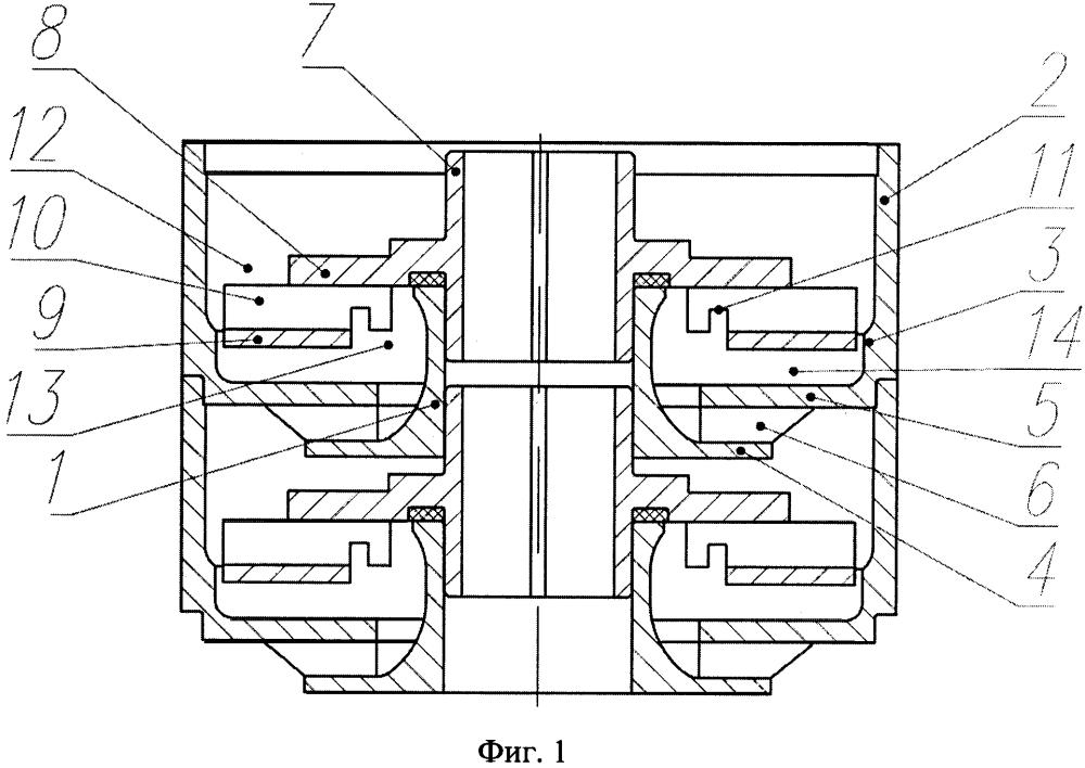 Мультифазная ступень погружного многоступенчатого центробежного насоса