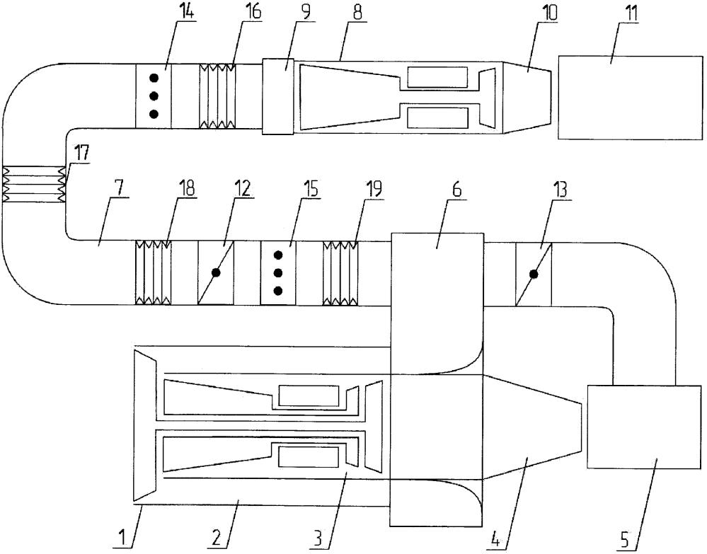 Стенд для испытания газогенераторов турбореактивных двухконтурных двигателей