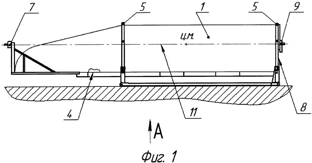 Способ погрузки-выгрузки створок головного обтекателя при транспортировании в контейнерах