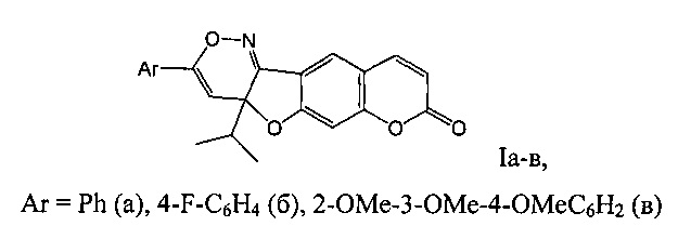 3-арил-4а-изопропил-4ан-хромено[6,7:4,5]фуро[3,2-с][1,2]оксазин-8-оны, обладающие противовоспалительной и анальгетической активностью
