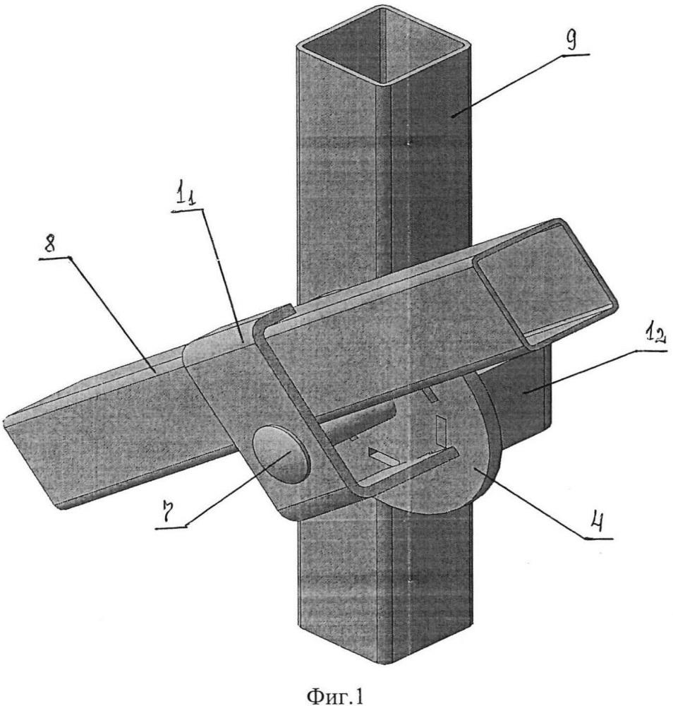 Приспособление для касательного разъемного соединения между собой двух труб, расположенных в пространстве под регулируемым углом друг к другу (варианты)