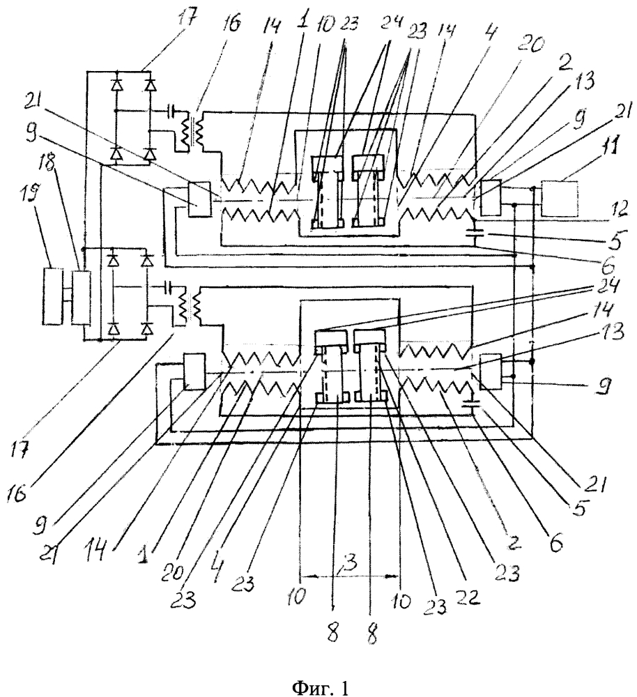 Устройство и способ стребкова усиления электрических сигналов (варианты)