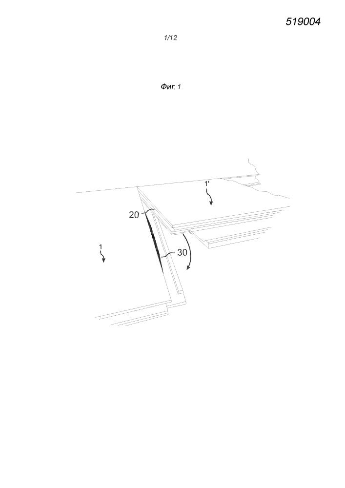 Строительная панель с механической замковой системой