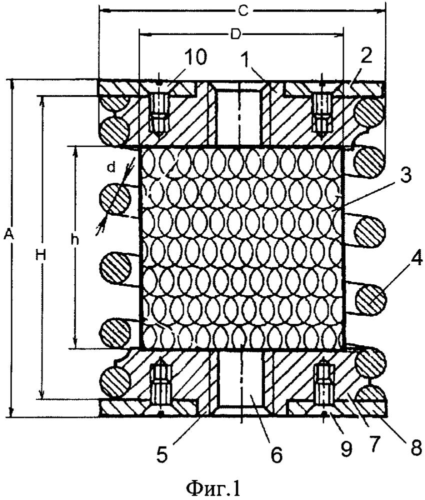 Виброизолятор пружинный сетчатый
