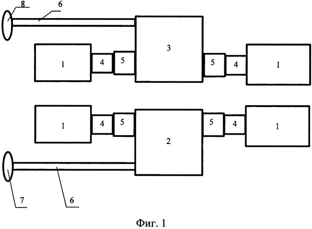 Судовая двухвальная главная энергетическая установка