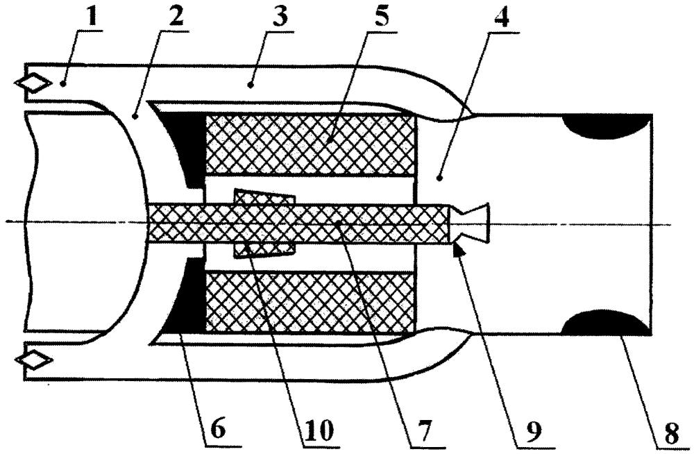 Интегральный прямоточный воздушно-реактивный двигатель на твердом горючем