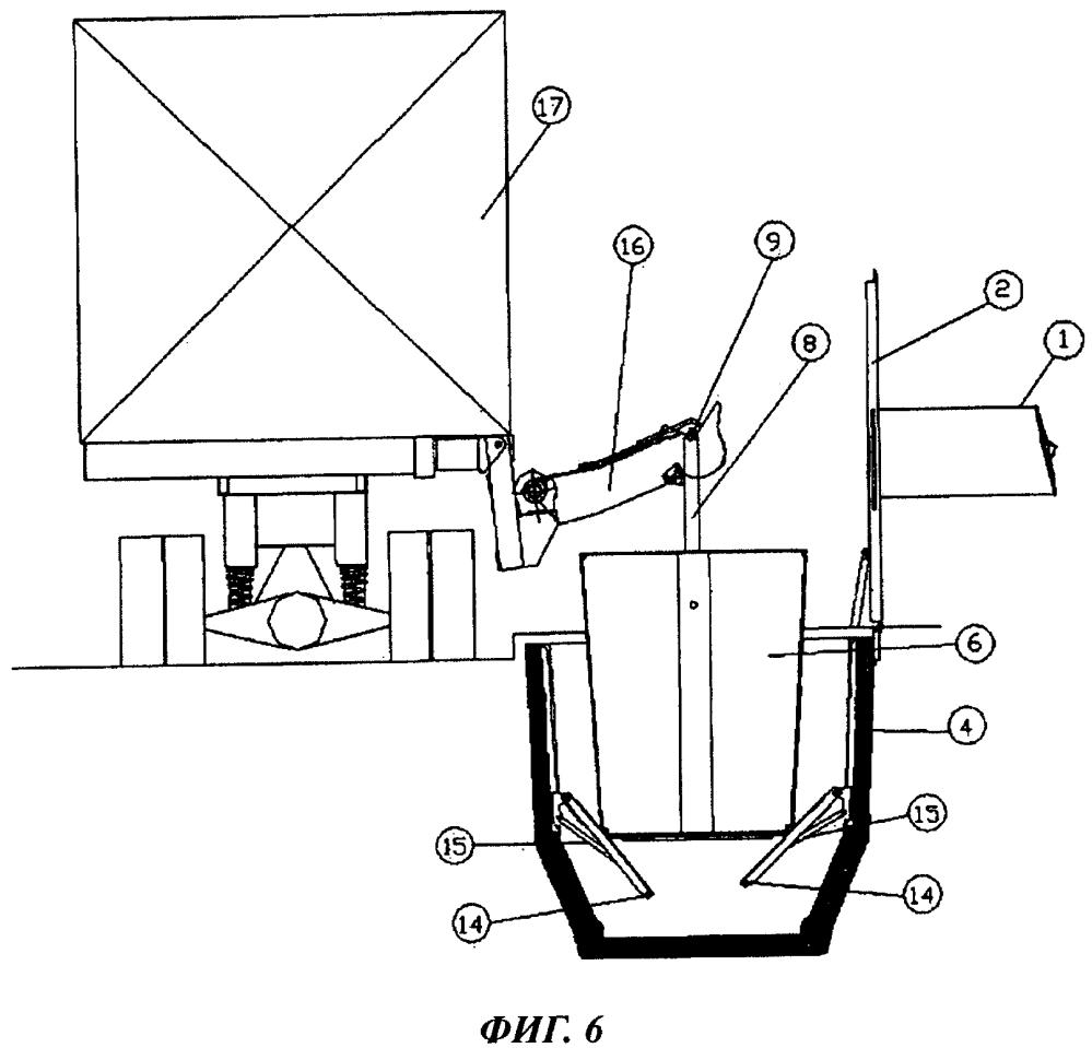 Подповерхностная система для сбора мусорных контейнеров с боковой стороны