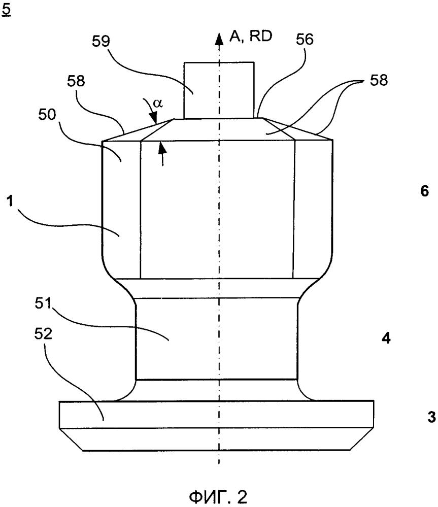 Шина транспортного средства и шип противоскольжения, вставляемый в шину транспортного средства