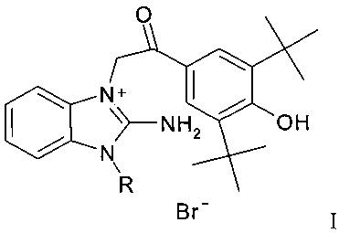 Бромиды 1-замещенных-3-{ [2-(3,5-ди-трет-4-гидроксифенил)-2-оксоэтил]} -2-аминобензимидазолия, обладающие антиагрегантными и антиоксидантными свойствами