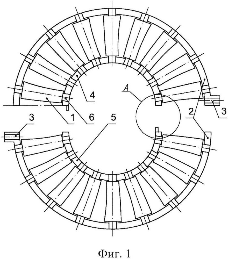 Направляющий аппарат осевого компрессора